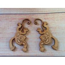 Laser cut Monkeys pack of 2